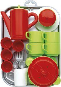 Ігровий набір Chef-Cook з посудом і підносом, Ecoiffier 000972