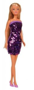 Лялька Штеффі в платті з двосторонніми паєткам (фіолетове), Steffi Love 105733366
