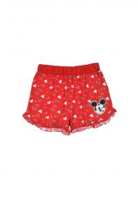 """Трикотажні шорти для дівчинки """"Minnie"""" (червоні), Sun City ET1130"""