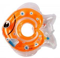 """Надувний круг для купання """"Рибка"""" (оранжевий), Lindo LN 1565"""