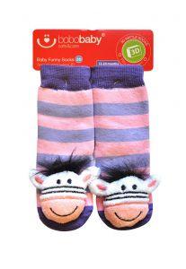 Шкарпетки з 3D нашивкою віслючки, 12-24 міс., BS-41, BoboBaby