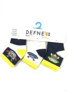 """Набір шкарпеток для дитини """"роботи"""" (3 шт.),   Defne 10556"""
