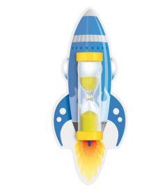 Пісочний годинник на присосці для чищення зубів (Ракета синя), Склоприлад