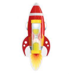 Пісочний годинник на присосці для чищення зубів (Ракета червона), Склоприлад