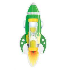 Пісочний годинник на присосці для чищення зубів (Ракета зелена), Склоприлад