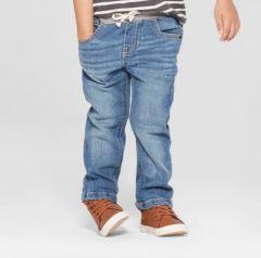 Супер мягкие джинсы с трикотажным поясом для мальчика