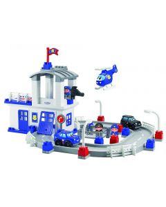 """Конструктор """"Поліцейська станція з годинниковою вежею і вертольотом"""", Ecoiffier 003025"""
