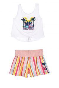 Комплект-двійка з шортами для дівчинки (білий), Sun City ET1141