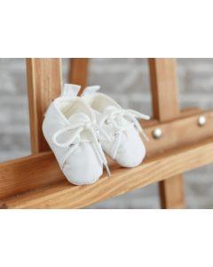 Бавовняні пінетки для малюка (білі), 1059
