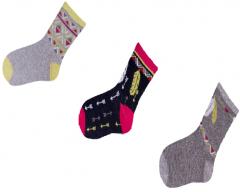 Набор носков для девочки с принтом (3 пары),YOclub SK-24