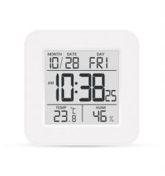 Цифровий термо-гігрометр з годинником, Склоприлад Т-19