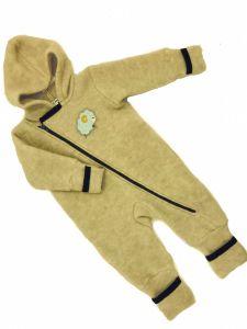 Вовняний теплий чоловічок для дитини (жовтий), 1818-Z Mokkibym