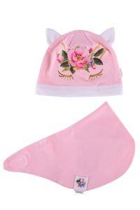 Набір Юнікорн для дівчинки, рожевий (шапочка і хомут), 18.02.031