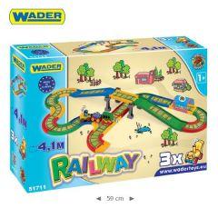 """Ігровий набір Kid Cars """"Залізниця"""" (4,1 м), Wader 51711"""