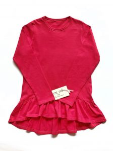 Трикотажная туника для девочки (розовая), ТН-001