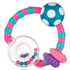 Брязкальце з кольоровими кульками, Canpol Babies 56/145 (рожева)