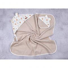 "Набор для купания ""Milk"" (полотенце + перчатка), MagBaby 130610"
