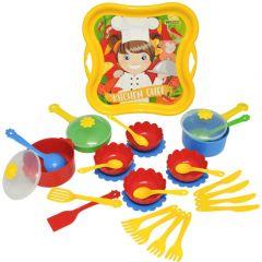 """Набір посуду """"Шеф кухар"""" з термонаклейкою, 31ел. Tigres 39728"""