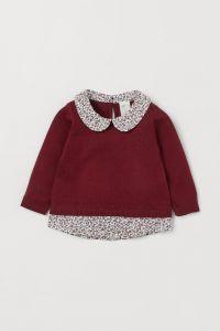 Джемпер з імітацією сорочки для дівчинки від H&M