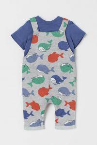 Комплект-двійка (футболка та комбінезон) для дитини