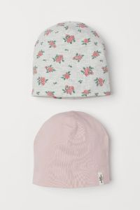 Набір шапок з двійного трикотажу для дитини (2 шт.)