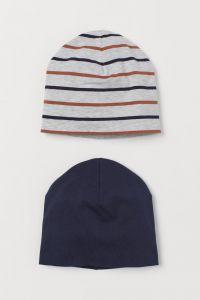 Набір шапок з двійного трикотажу для хлопчика (2 шт.)