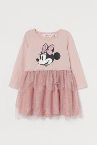 """Трикотажна сукня """"Minnie Mouse"""" з фатином для дівчинки від H&M"""