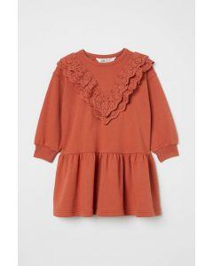 Трикотажне плаття з легкою махровою ниткою всередині для дівчинки