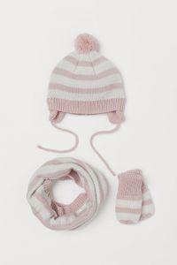Набор (шапка, хомут, варежки) для девочки от H&M
