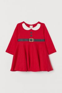 Новорічне трикотажне плаття для дівчинки