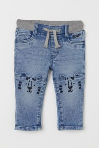Стильные джинсы на резинке для мальчика