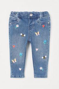 Джинси з вишивкою для дівчинки від H&M