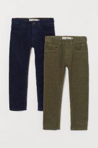 Зелені вельветові штани для хлопчика (1 шт.)