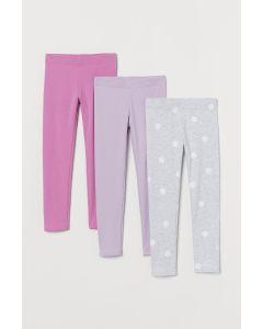 Трикотажні легінси з флісом всередині 1 шт. (рожеві) від H&M
