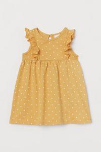 Легеньке трикотажне плаття з принтом для дівчинки