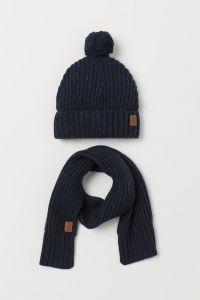Комплект із шапочки та шарфу для хлопчика