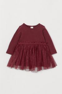 Трикотажне плаття з фатином для дівчинки