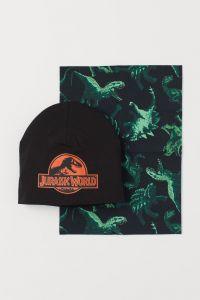 Набір(шапка+снуд)з подвійного трикотажу Jurassic World для дитини