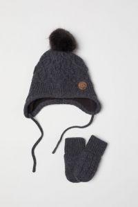 Комплект (шапка+варежки-антицарапки) для ребенка