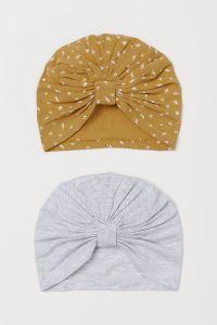 Набір шапочок з органічної бавовни для дівчинки(2 шт.)