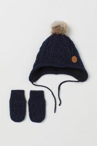 Комплект з шапочки та рукавичок для малюка