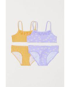 Роздільний купальник для дівчинки 1шт. (лавандовий з принтом)