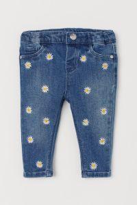 Стильні джинси з вишивкою для дівчинки від H&M