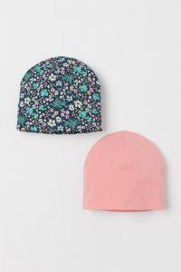 Набір шапочок з органічної бавовни для дівчинки (2 шт.)