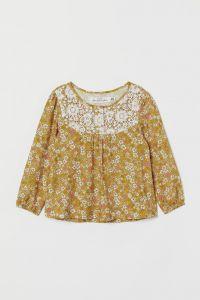 Блуза с кружевом для девочки