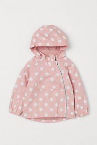 Куртка-анорак з бавовни для дівчинки