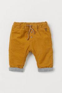 Вельветові штани з трикотажною підкладкою