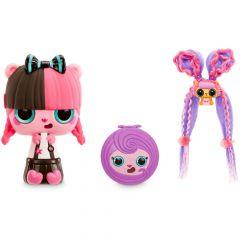 Ігровий набір Pop Pop Hair Surprise - Модна зачіска (рожево-чорне волосся), 561873