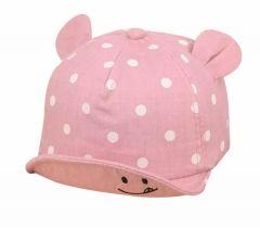 Летняя кепка для девочки (розовая)