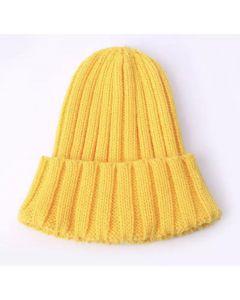 Тепла шапка  для дитини (яскраво жовта)